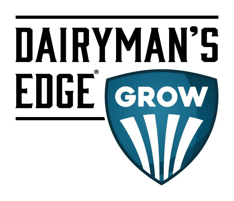 Dairyman's Edge Grow Dairy Industry Logo Branding Corporate Identity Design
