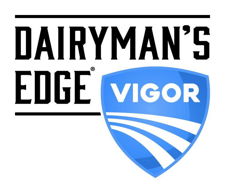 Dairyman's Edge Vigor Dairy Industry Logo Branding Corporate Identity Design
