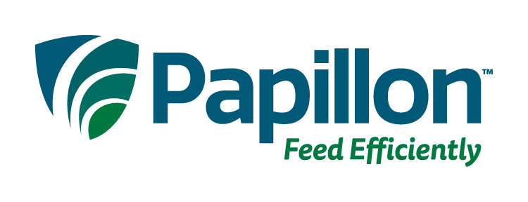 Papillon Feed Efficiently Dairy Industry logo Branding Identity