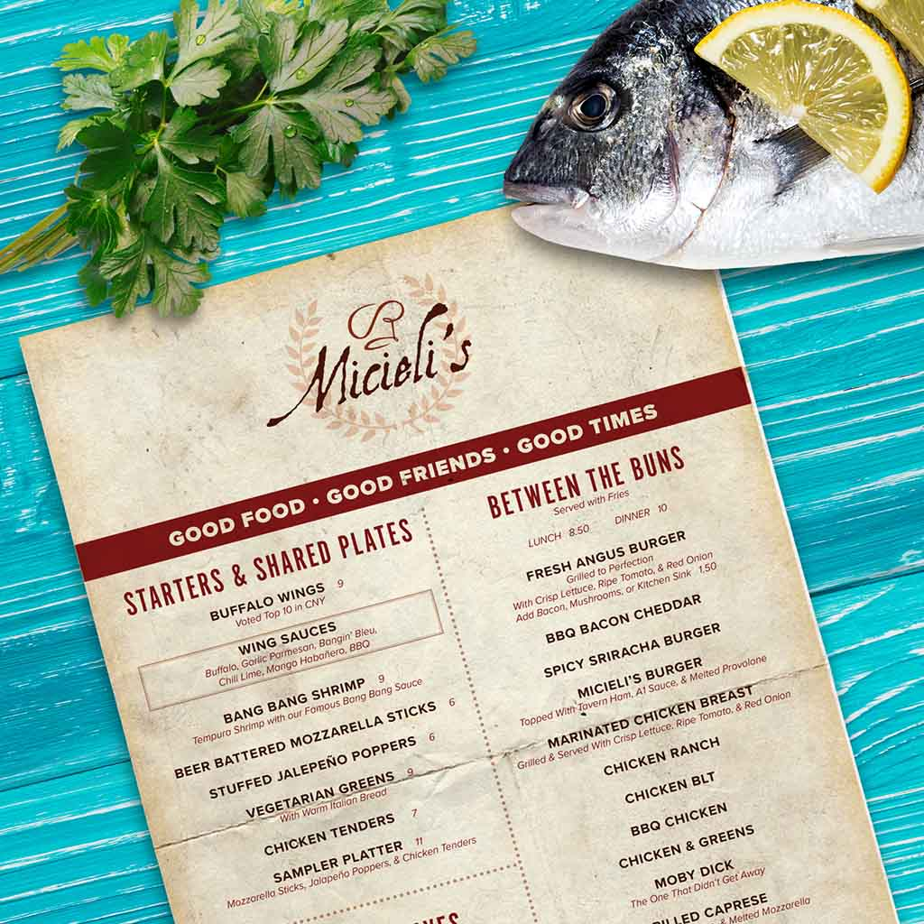 Restaurant Menu Print Design Homepage Cover Image