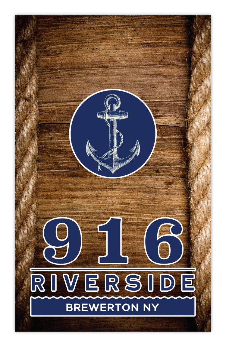 916 Riverside Restaurant Brewerton NY New York Menu Design Front Cover