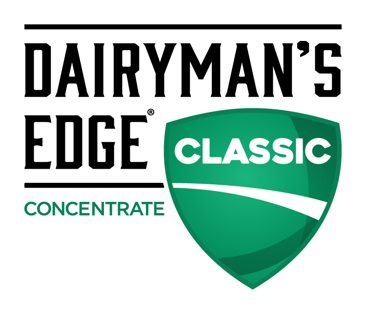 Dairyman's Edge Classic Concentrate Dairy Industry Logo Branding Corporate Identity Design