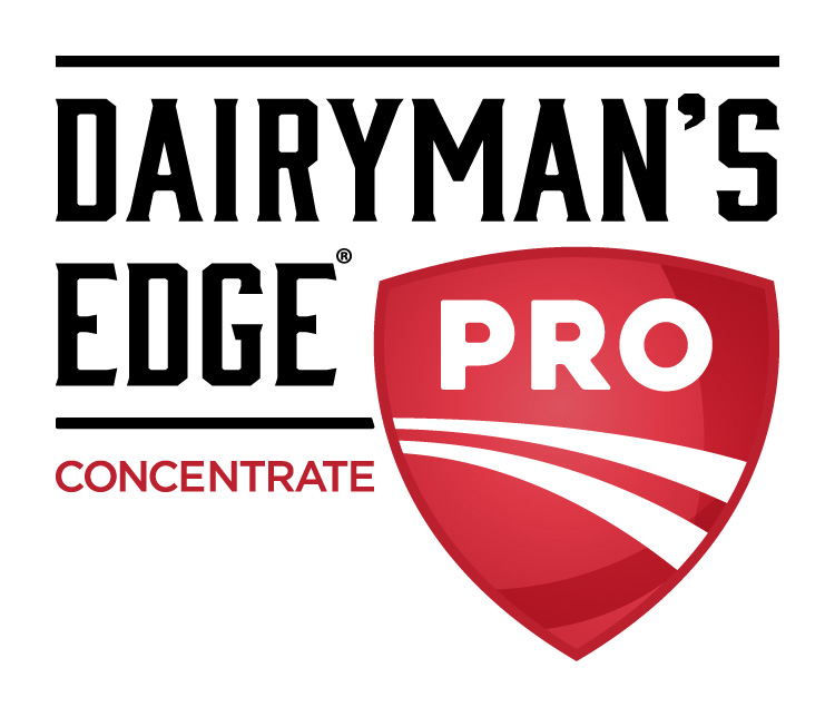 Dairyman's Edge Pro Concentrate Dairy Industry Logo Branding Corporate Identity Design