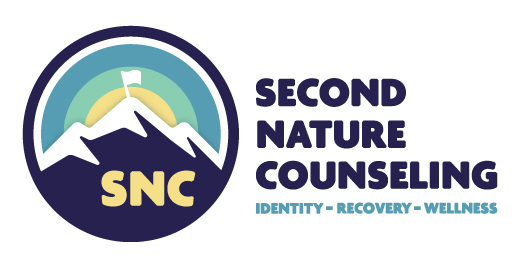 Second Nature Counseling Identity Recovery Wellness Substance Abuse Counselor Logo Branding Identity Design