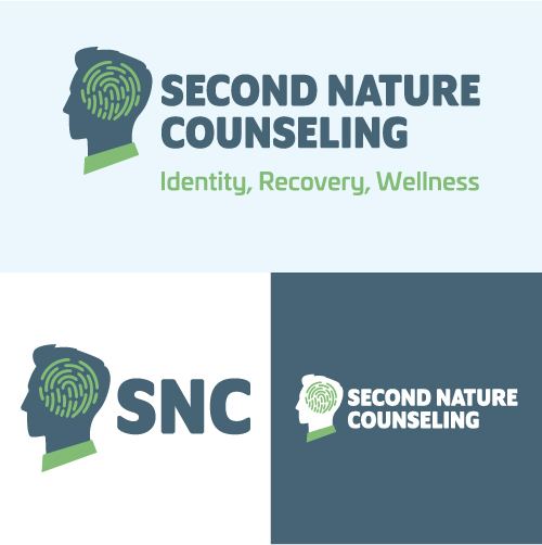 Second Nature Counseling Identity Recovery Wellness Substance Abuse Counselor Logo Branding Identity Design Concept 08
