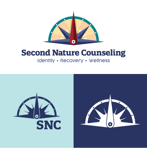 Second Nature Counseling Identity Recovery Wellness Substance Abuse Counselor Logo Branding Identity Design Concept 07