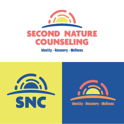 Second Nature Counseling Identity Recovery Wellness Substance Abuse Counselor Logo Branding Identity Design Concept 05