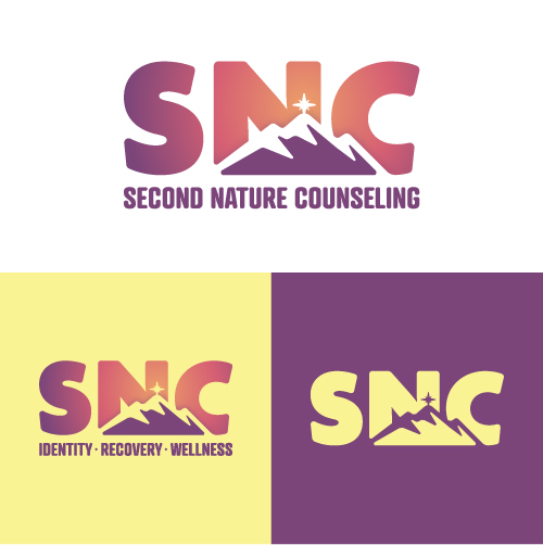 Second Nature Counseling Identity Recovery Wellness Substance Abuse Counselor Logo Branding Identity Design Concept 04