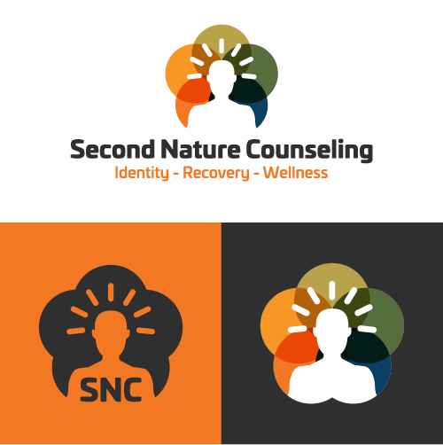 Second Nature Counseling Identity Recovery Wellness Substance Abuse Counselor Logo Branding Identity Design Concept 03