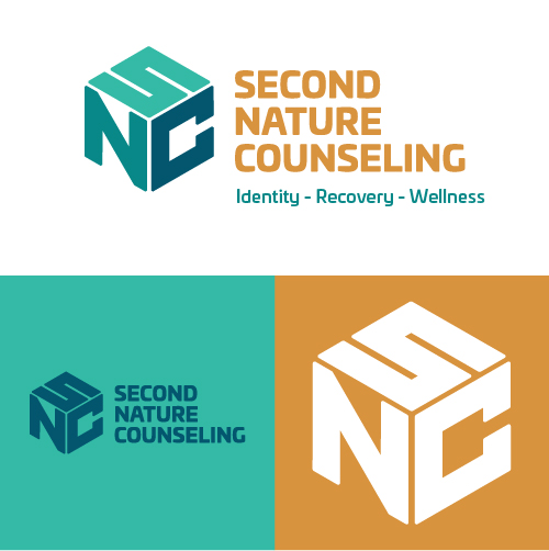 Second Nature Counseling Identity Recovery Wellness Substance Abuse Counselor Logo Branding Identity Design Concept 02