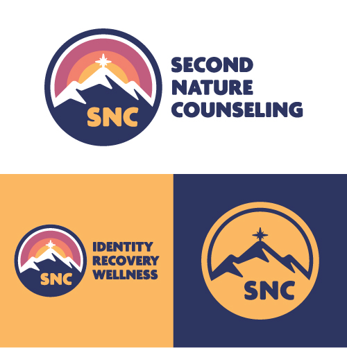 Second Nature Counseling Identity Recovery Wellness Substance Abuse Counselor Logo Branding Identity Design Concept 01
