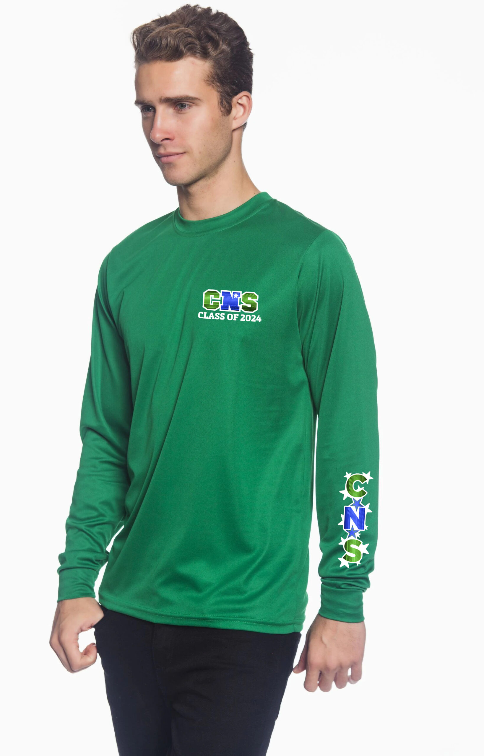 Athletic Long Sleeve Shirt CNS Logo on Arm